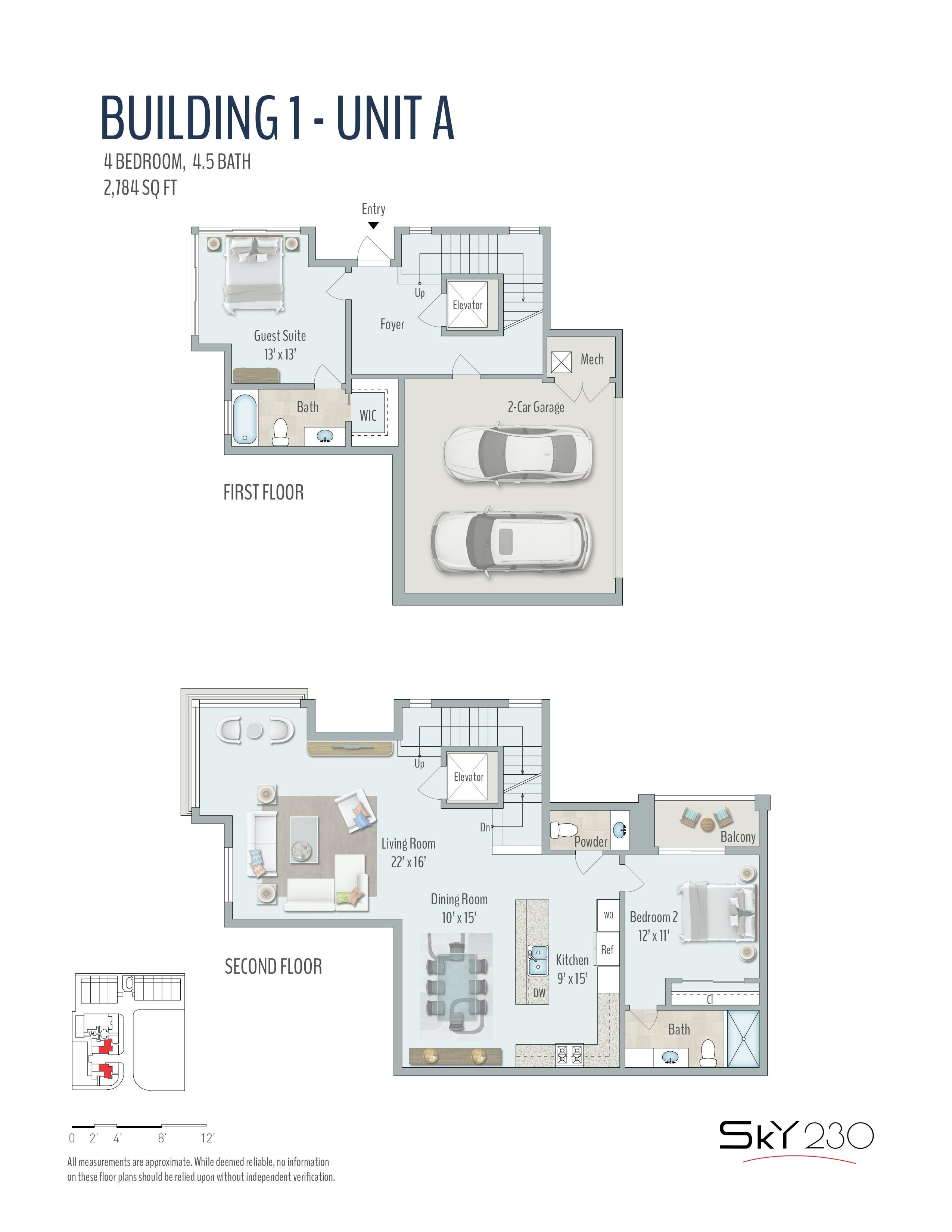 Sky230 Part No 250 15 255 8 260 4 261 5 Model A 12 Floors